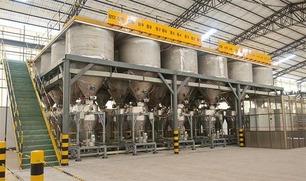 陶瓷釉料自动化喂料系统